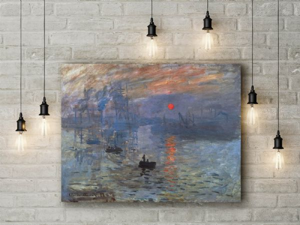 Claude Monet: Impression, Sunrise. Fine Art Canvas.